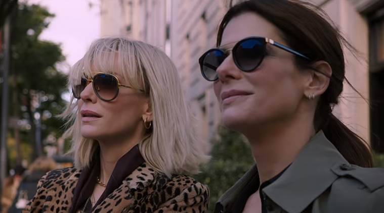 sandra bullock and cate blanchett in ocean's 8 trailer