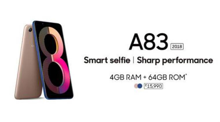 Oppo A83 (2018) with 5 7-inch Full View display, AI Beauty