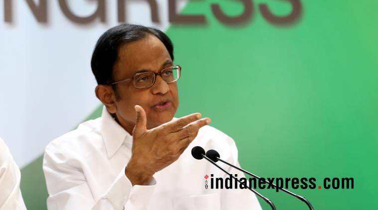 Former Union minister P Chidambaram. (Express photo/File)