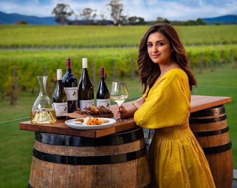 parineeti chopra drinks wine