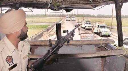 On guard at a bridge on the border: Day in the life of Narrot Jaimal Singh Police Station inPathankot
