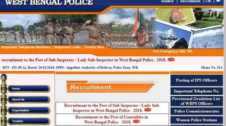 West Bengal Police recruitment, policewb.gov.in, Bengal police recruitment, police recruitment, west bengal police constable posts, west bengal police si posts, job news, latest job news, indian express, indian express news