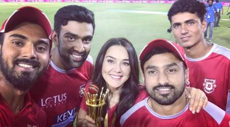 IPL 2018: KXIP owner Preity Zinta overjoyed in win, see pic