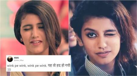 Priya Prakash Varrier has winked again and is stirring up the Internet, this time aswell