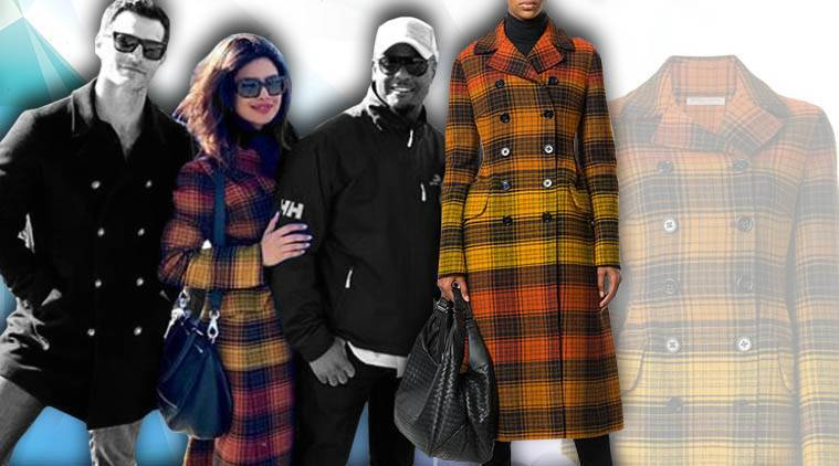 Priyanka Chopra, Priyanka Chopra latest photos, Priyanka Chopra fashion, Priyanka Chopra Bottega Veneta coat, Priyanka Chopra coats, Priyanka Chopra jackets, Priyanka Chopra winter fashion, Priyanka Chopra fashion tips, indian express, indian express news