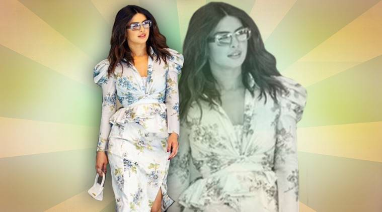 Priyanka Chopra, Priyanka Chopra latest photos, Priyanka Chopra fashion, Priyanka Chopra floral dress, Priyanka Chopra Brock Collection, Priyanka Chopra street style, indian express, indian express news