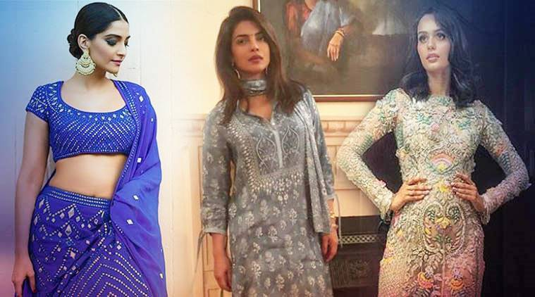 Bollywood fashion, celeb fashion, Priyanka Chopra, Manushi Chhillar, Sonam Kapoor, Janhvi Kapoor, indian express, indian express news