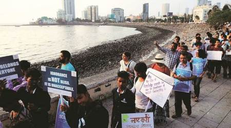 mumbai students protest, Protest against fund cuts, mumbai ambedkar jayanti, worli, haji ali, mumbai protest, march for science