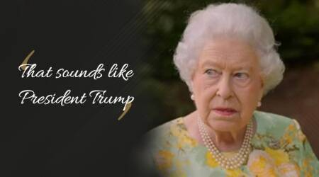 VIDEO: 'That sounds like President Trump': Queen Elizabeth on hearing a helicopter