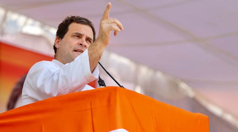 Congress president Rahul Gandhi's aircraft landed in Hubli on the third attempt (File photo)