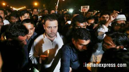 Rahul, Priyanka Gandhi lead march at India Gate to protest Kathua, Unnao rapes