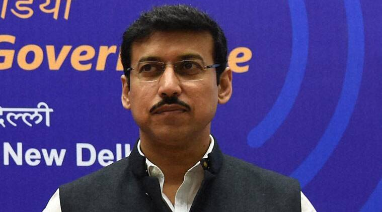 no proposal to control social media, Minister of State for Information and Broadcasting Rajyavardhan Rathore, Rajya Sabha, right to privacy, India News, Indian Express