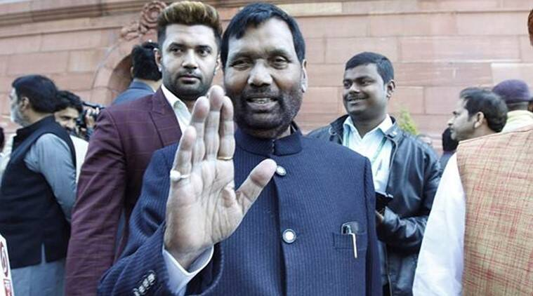 Union Minister and BJP ally LJP's chief Ram Vilas Paswan. (Express photo by Praveen Jain)