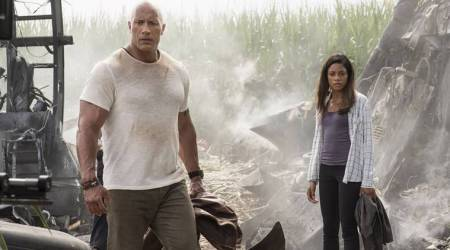 Rampage actor Naomie Harris: Dwayne Johnson is an expert guide