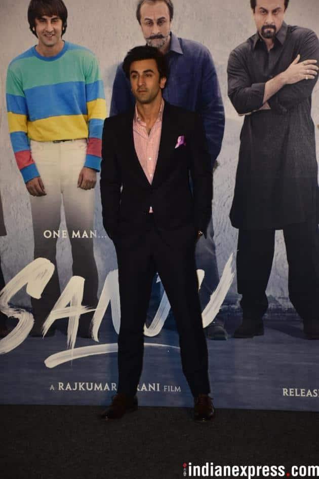 ranbir kapoor looked dapper at sanju teaser launch