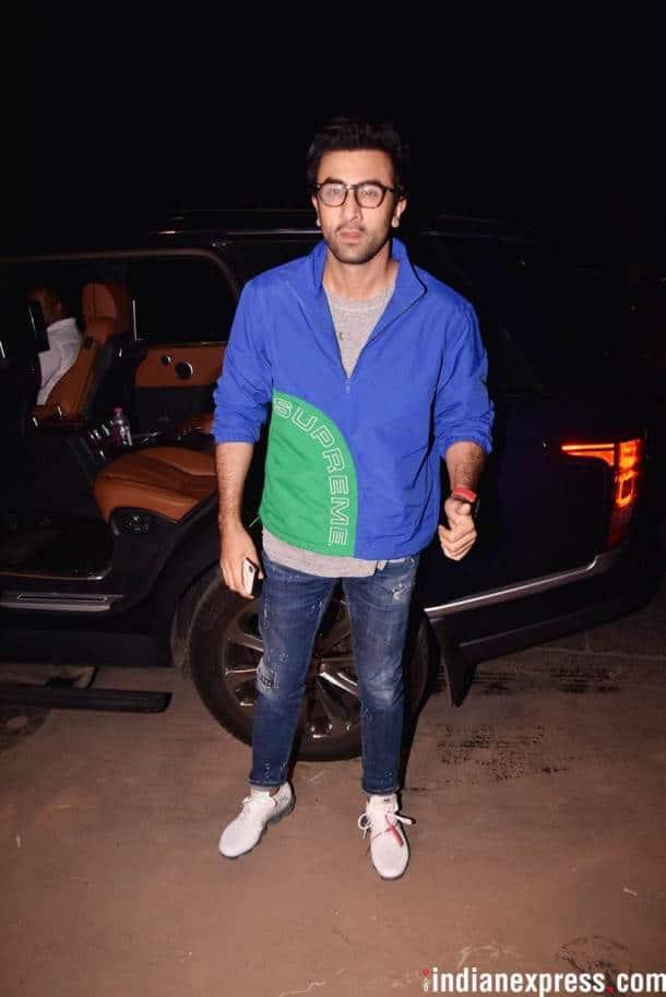 Ranbir Kapoor at the party