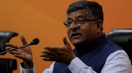 Union Law Minister Ravi Shankar Prasad. (File)