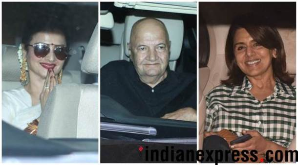 Rekha, Neetu Singh, Prem Chopra attend 102 Not Out screening