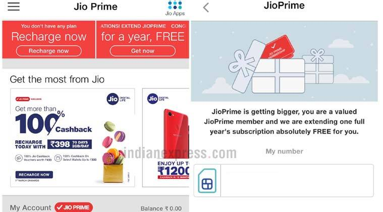 Reliance Jio Prime membership extended for one more year for free