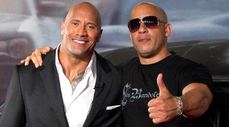 Dwayne johnson opens up about feud with vin diesel the indian express dwayne johnson and vin diesel m4hsunfo