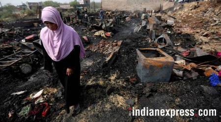 Rohingya camp in New Delhi gutted by early morning fire