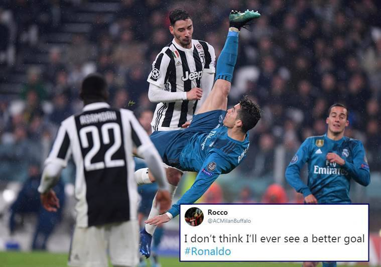 Cristiano Ronaldo S Stunning Bicycle Kick Has Sent Twitterati Into A Tizzy Trending News The Indian Express
