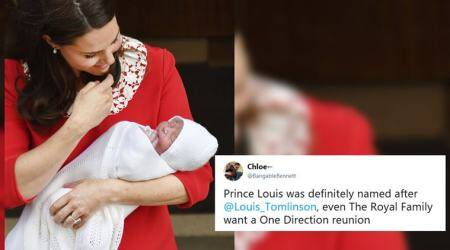 louis, Louis Arthur Charles, prince lousis, royal baby name, royal baby prince louis, royal baby 3, prince william son name, one direction, viral news, trending news, indian express