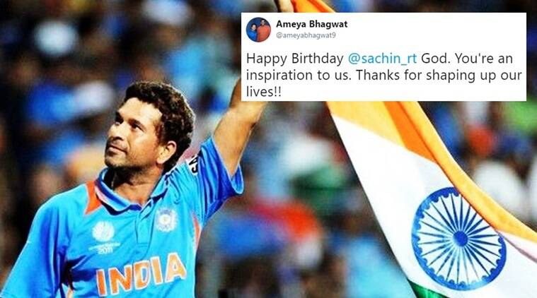 Sachin Tendulkar, Sachin Tendulkar birthday, Sachin Tendulkar images, Sachin birthday, Happy birthday Sachin Tendulkar, Sachin Tendulkar birthday image, Sachin Tendulkar birthday wishes Twitter, Indian express, Indian express news