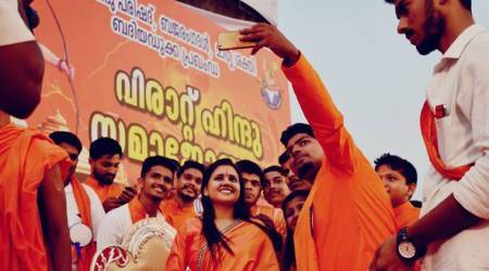 Gift your sisters a sword so they can behead love jihadis: Sadhvi Saraswati at VHP function in Kerala, case filed