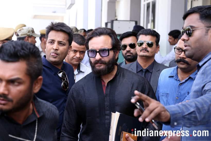 saif ali khan in jodhpur for blackbuck case