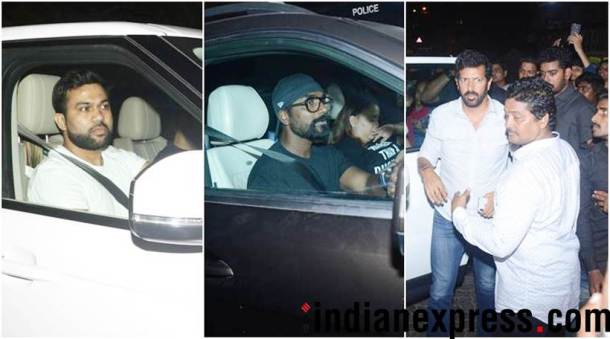 remo d'souza, kabir khan and ali abbas zafar at salman khan house