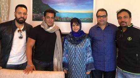 Race 3: Salman Khan meets Mehbooba Mufti in Kashmir, see photos and video