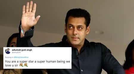 salman khan, salman Khan Twitter, salman Khan tweets, Salman Khan thank you tweet, Salman Khan tears of gratitude tweet, salman khan thank you tweet, Indian Express, Indian Express News