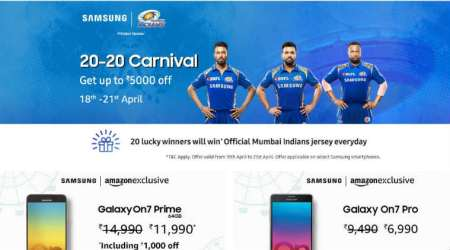 Samsung 20-20 Carnival on Amazon: Discounts on Galaxy A8+, On7 Prime and more mobiles