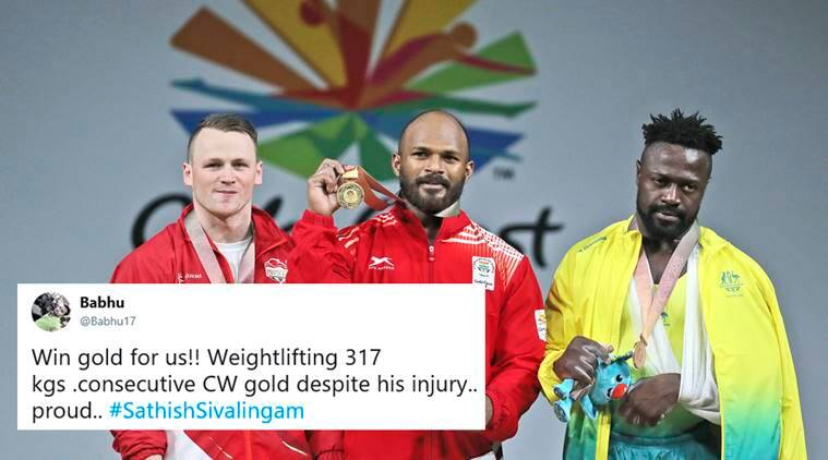 Sathish Kumar Sivalingam, sathish sivalingam, commonwealth games 2018, cwg 2018, sathish sivalingam gold, sathish sivalinga, injury, cwg 2018 india gold, india weightlifting gold, india cw 2018 medal tally, sports news, indian express, viral news