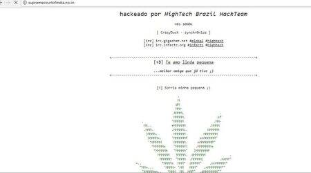 Supreme Court's official website hacked, Brazilian group suspected