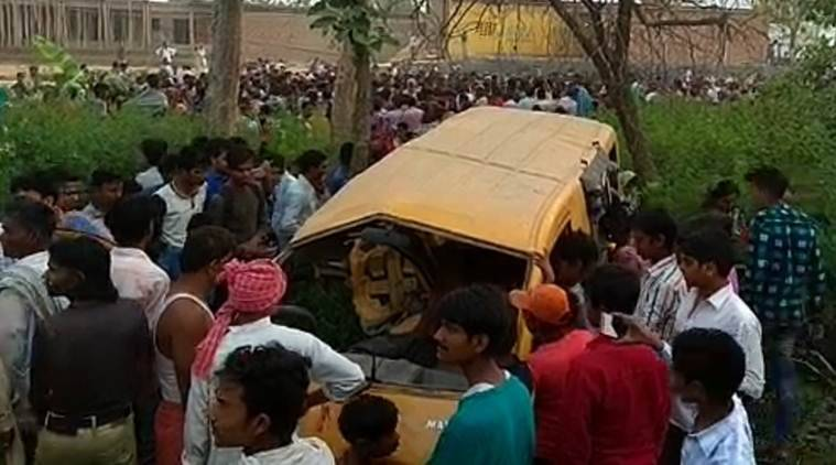 Kushinagar accident LIVE UPDATES: At least 13 students killed in train-van collision, Yogi Adityanath meets family of victims
