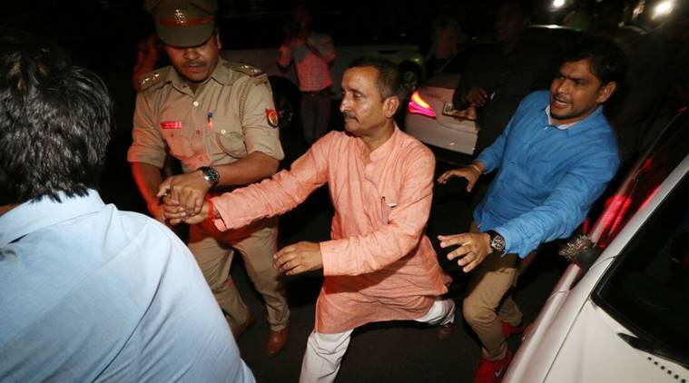 Unnao rape case, kuldeep singh sengar, BJP MLA arrested, kuldeep singh sengar arrested, Unnao rape, bjp Unnao rape case, unnao mla rape cbi, uttar pradesh, utar pradesh, yogi adityanath, bharatiya janata party, indian express