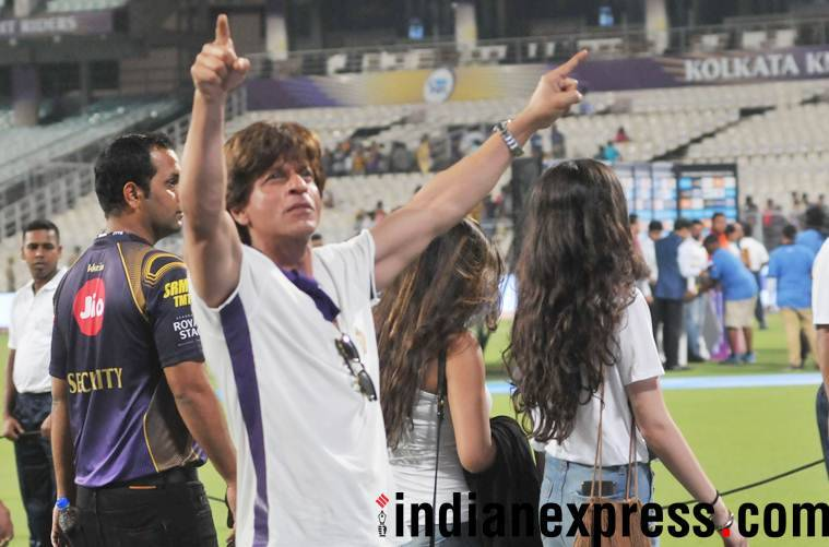 SRK at Kolkata Knight Riders match