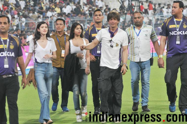 Shah Rukh khan at Eden Gardens