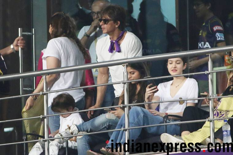 Shah Rukh khan at KKR match