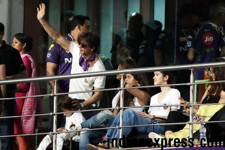 Shah Rukh khan at Indian Premier League 2018 match