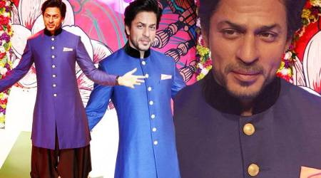 Shah Rukh Khan's second wax statue in his signature pose unveiled at Madame Tussauds Delhi; seepics