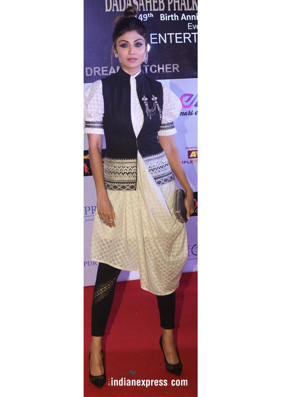 Dadasaheb Phalke Excellence Awards, Shilpa Shetty fashion, Tamannaah Bhatia fashion, Shahid Kapoor fashion, Karan Johar fashion, Hina Khan fashion, Aditi Rao Hydari fashion, Kriti Sanon fashion, indian express, indian express news