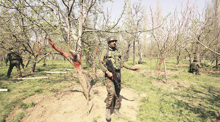In another incident, a person was shot at by militants after they released a video accusing him of being involved in the killing of two militants and four civilians in Shopian. (Express photo/File)