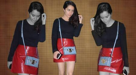 Shraddha Kapoor's red faux leather skirt is a sure shot conversation starter