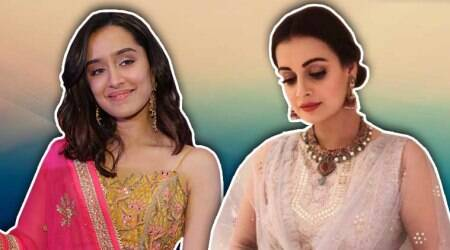Shraddha Kapoor in bright yellow lehenga or Dia Mirza in pristine white: Who looks better?