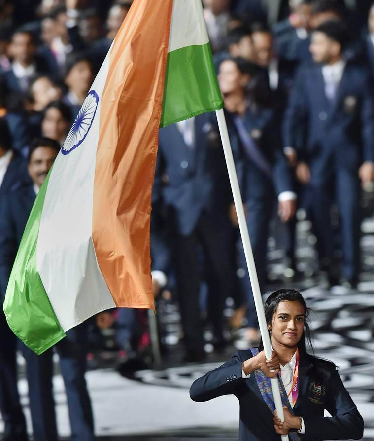 pv sindhu at cwg opening ceremony