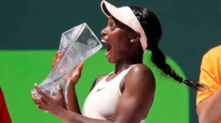 Sloane Stephens sees off Jelena Ostapenko to win Miami title