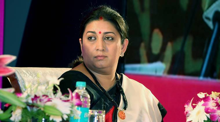 Students arrested for stalking Smriti Irani